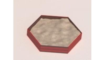 Песочница деревянная шестиугольная