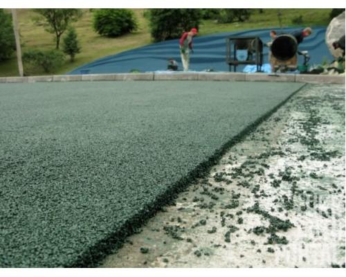 Бесшовное покрытие на основе резиновой крошки для спортивной площадки 15 мм