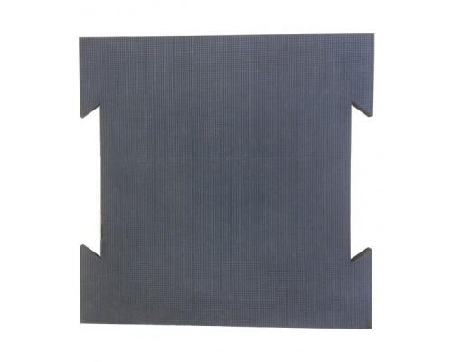 Резиновая плитка «Ласточкин хвост»  из монолитной резины с креплением