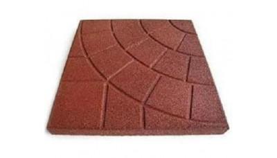 Резиновая плитка 350х350 мм «ПАУТИНКА»