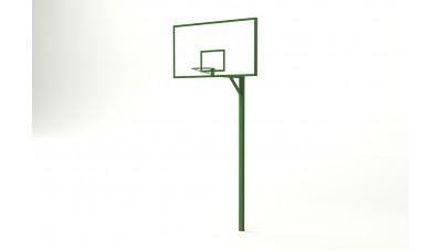 Баскетбольная стойка с фанерным щитом 1200*900 мм